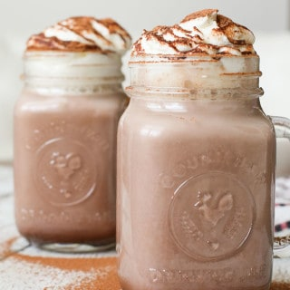 Cinnamon Hot Chocolate with Rum + Horchata