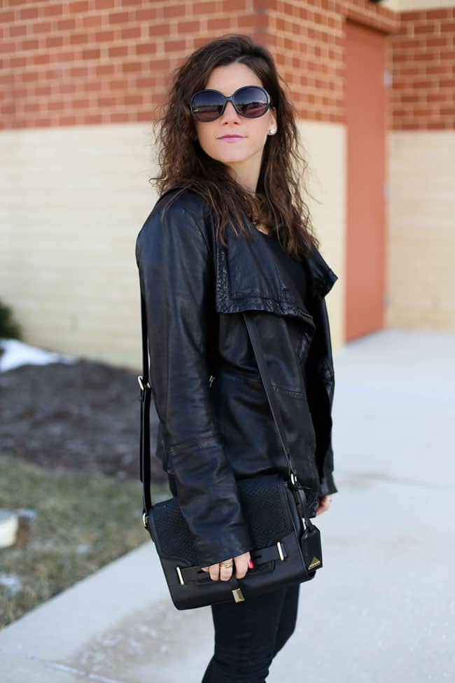 How to style an all black outfit