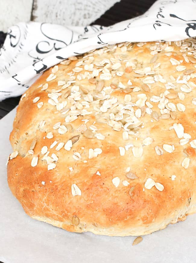 seeded walnut oat bread