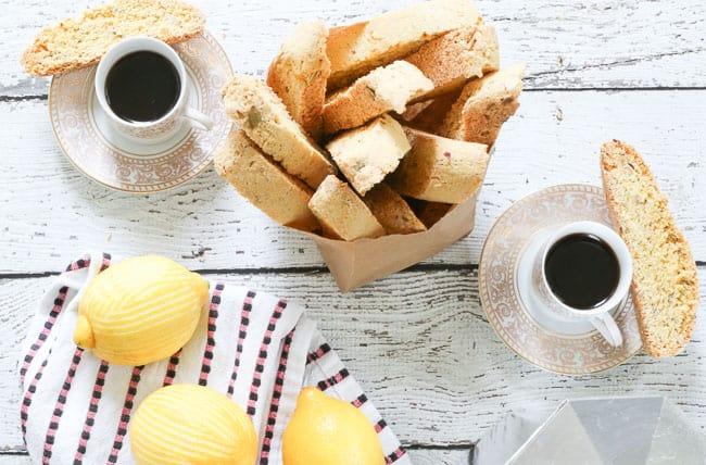 3×3 Food: Recipe Swap    Lemon Almond Biscotti