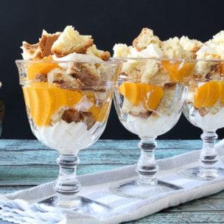 Mango Puree Trifles w. White Chocolate Whipped Cream