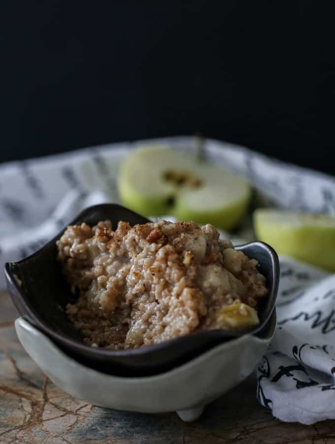 Apple Pie Oatmeal Breakfast Recipe - ready in 5 minutes!