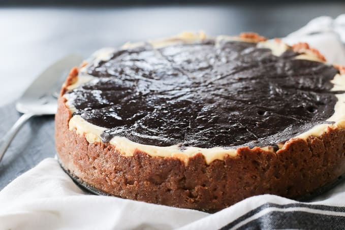 chocolate and vanilla layered cheesecake recipe
