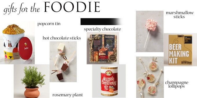holiday gift guide for a foodie