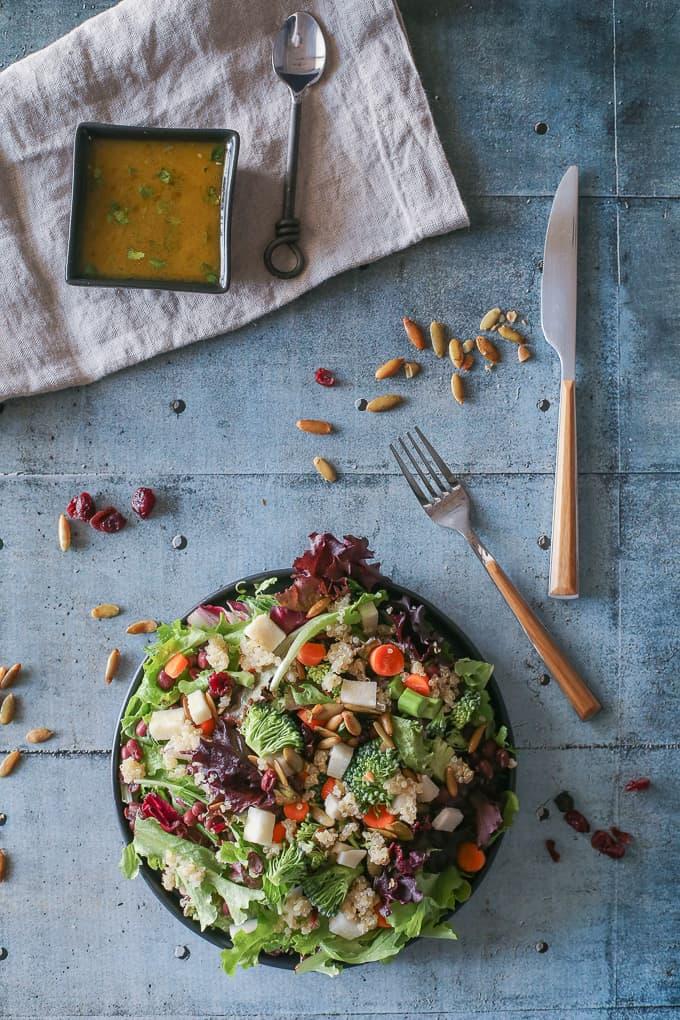 Adzuki Beans and Jicama Salad with Lime Chili Dressing