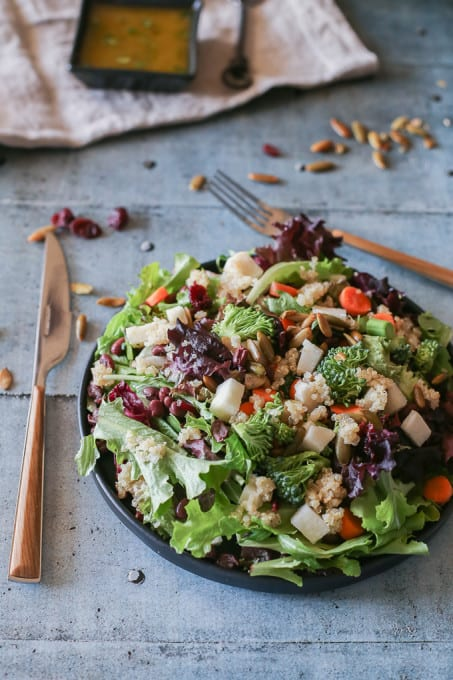 Adzuki Beans and Jicama Salad with Lime Chili Dressing