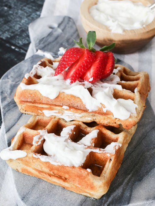 Gluten Free waffles made with cassava flour - so perfect!
