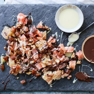 Pomelo Salad with Dates, Walnuts and Chocolate