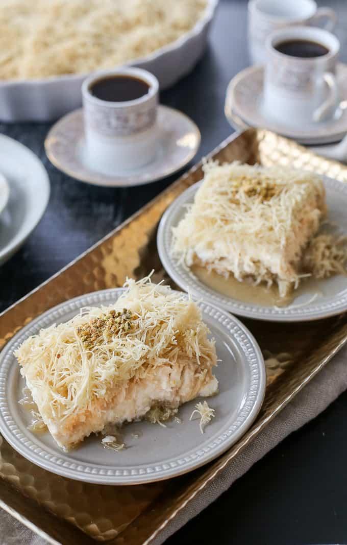 Knafeh Recipe, A Lebanese Sweet Cheese Dessert