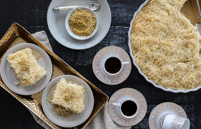 A Lebanese Dessert: Knafeh + An Exciting Announcement!