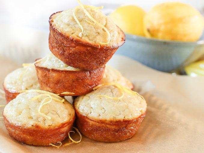 Honey Lemon Oat Muffins