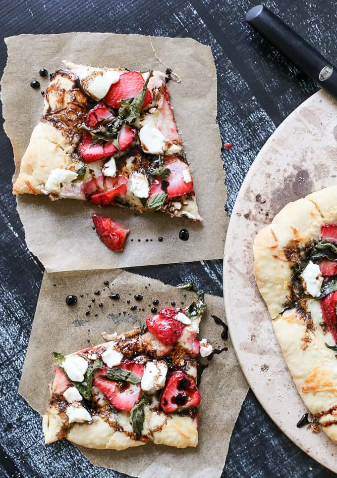 savory strawberry pizza
