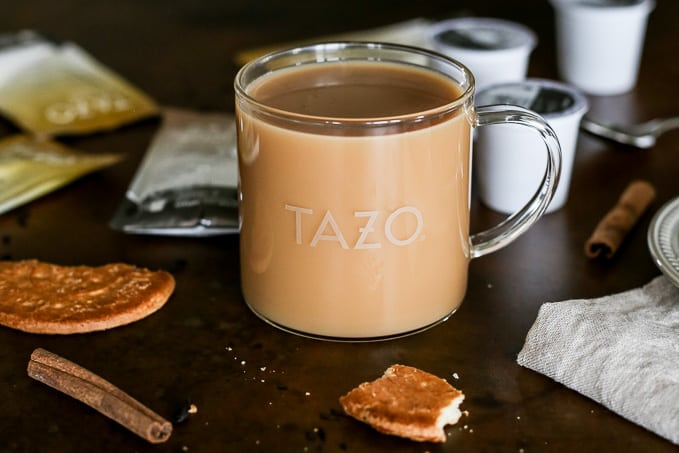 TAZO chai latte K cup: a sweet and spicy blend