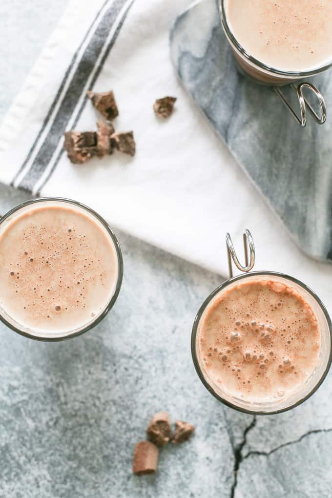 3 INGREDIENT HOMEMADE CHOCOLATE MILK INGREDIENTS 2 c whole milk 3 T liquid sugar (Sugar in the Raw) 3 T cocoa powder, high quality DIRECTIONS Combine ingredients together in a blender. Store in the refrigerator and shake before serving.