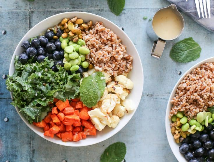 Roasted Cauliflower Salad Recipe with Blueberries