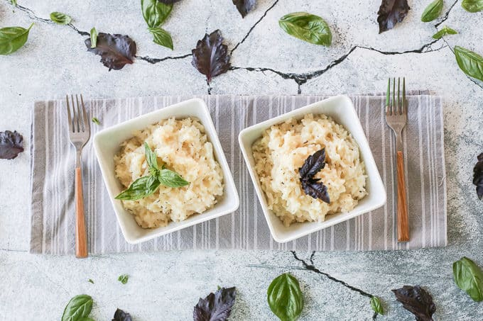 An easy recipe for herb risotto made with jasmine rice