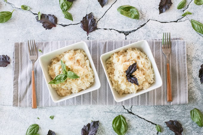 Non-Traditional Herb Risotto w. Jasmine Rice