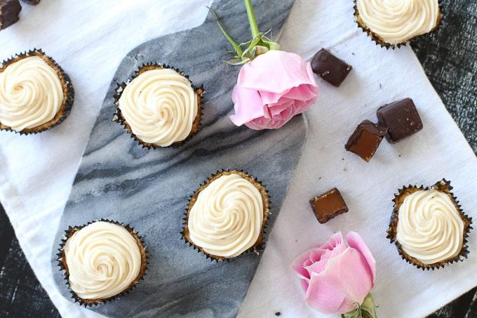 Fall Caramel Apple Cupcakes