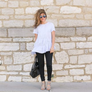 Pastel Blue Ruffle Top