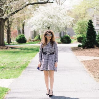 Black and White Gingham Dress | Spring Outfit