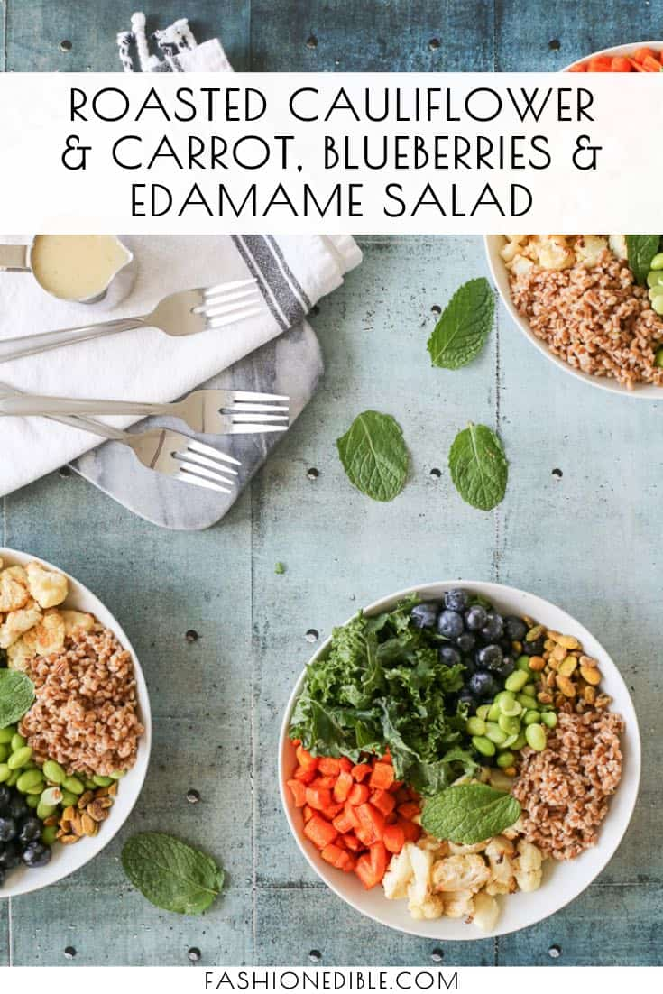 Roasted Cauliflower Salad Recipe | Roasted Carrot Salad | Edamame Blueberry Salad | Tahini