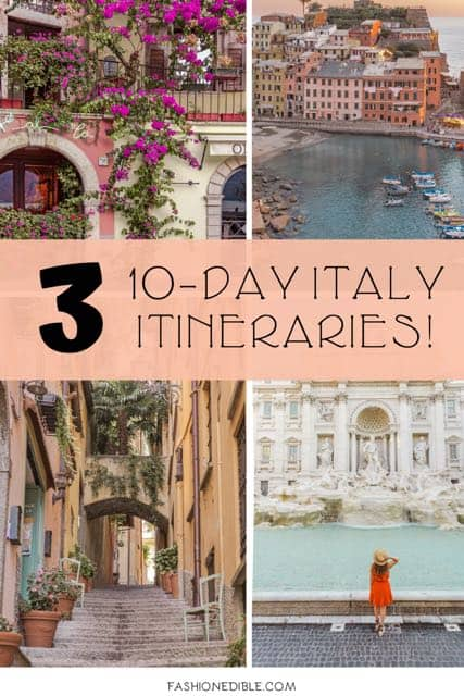 10 Day Italy Itinerary | Northern Italy & Southern Italy Itineraries | Best Places in Italy | Best Itinerary for Italy | See Italy in 10 days | Italian Itinerary | Where to Go in Italy