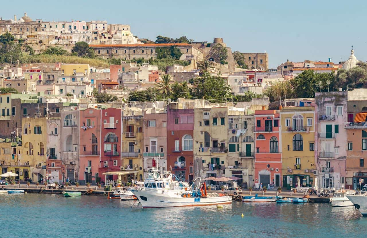 view of Procida island: 10 day Italy itinerary