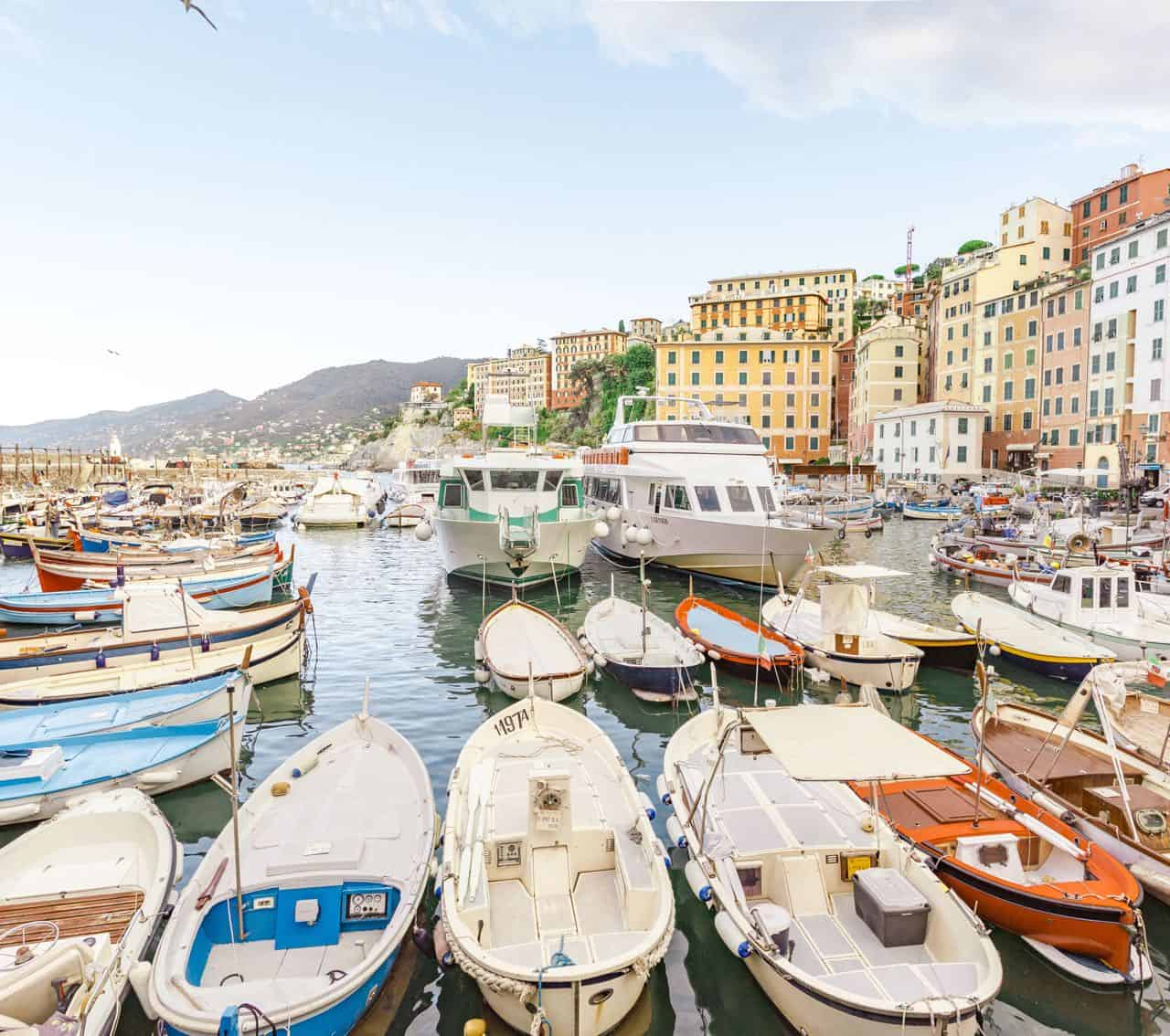 northern Italy itinerary includes Camogli and Genoa region