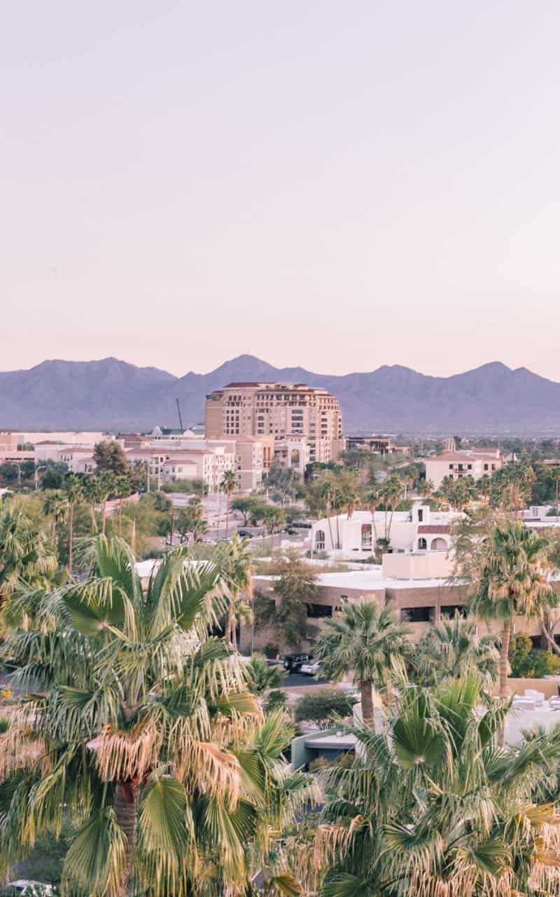 View over Phoenix Arizona from a hotel rooftop