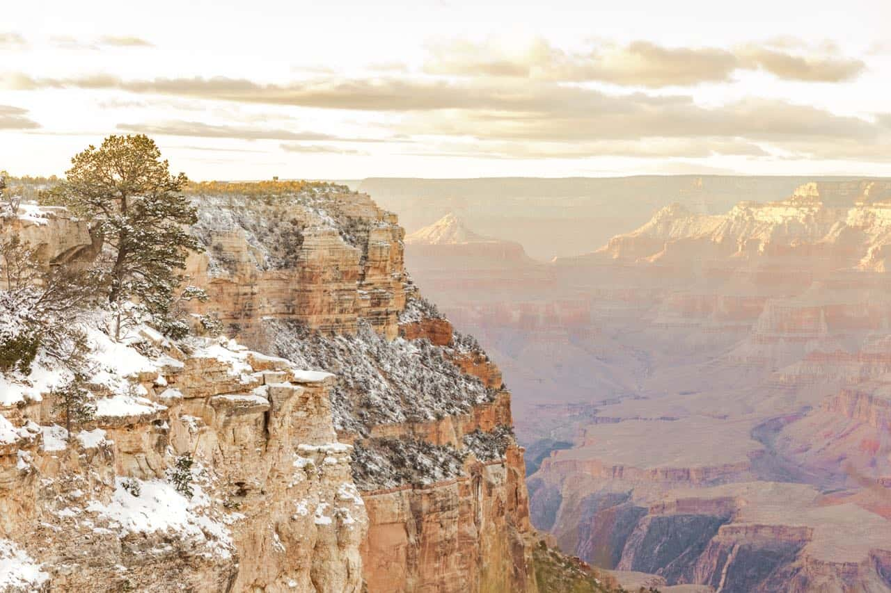 A view over the Grand Canyon in Arizona
