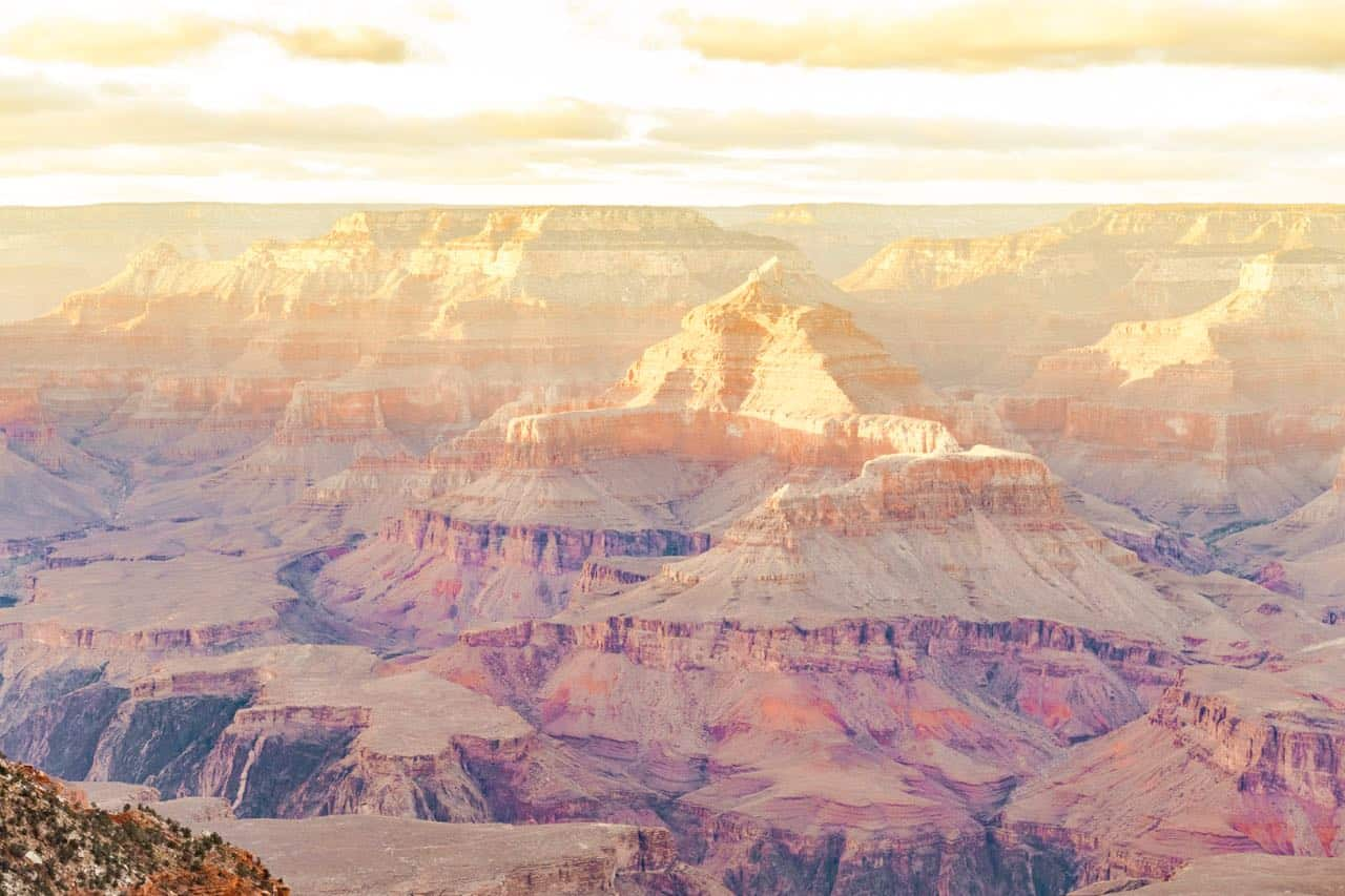 view over the Grand Canyon