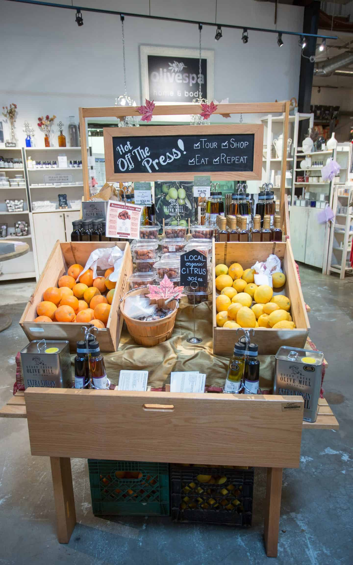 what to do in Phoenix: Queen Creek Olive Mill