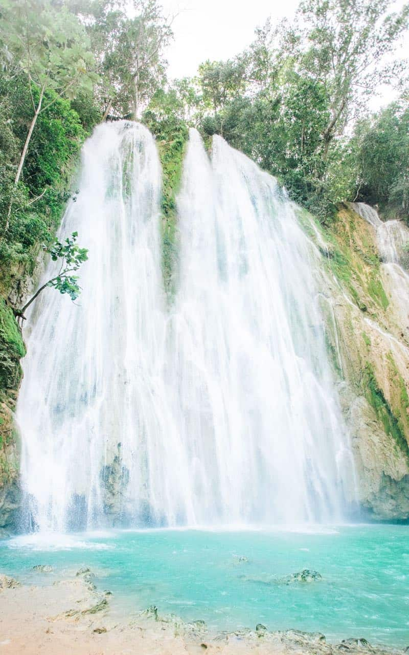 El Limon waterfall in the Dominican Republic