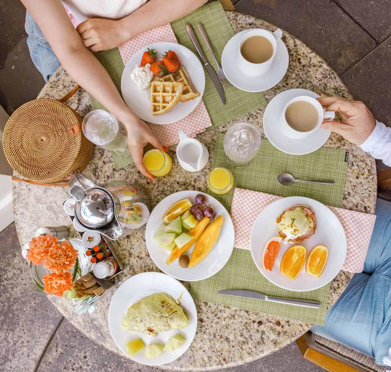 breakfast at the Fairmont Kea Lani