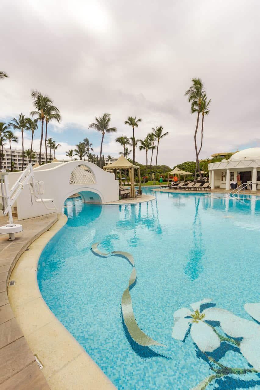 Pool side at the Fairmont Kea Lani