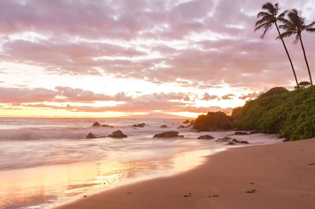 sunset at the Fairmont Kea Lani