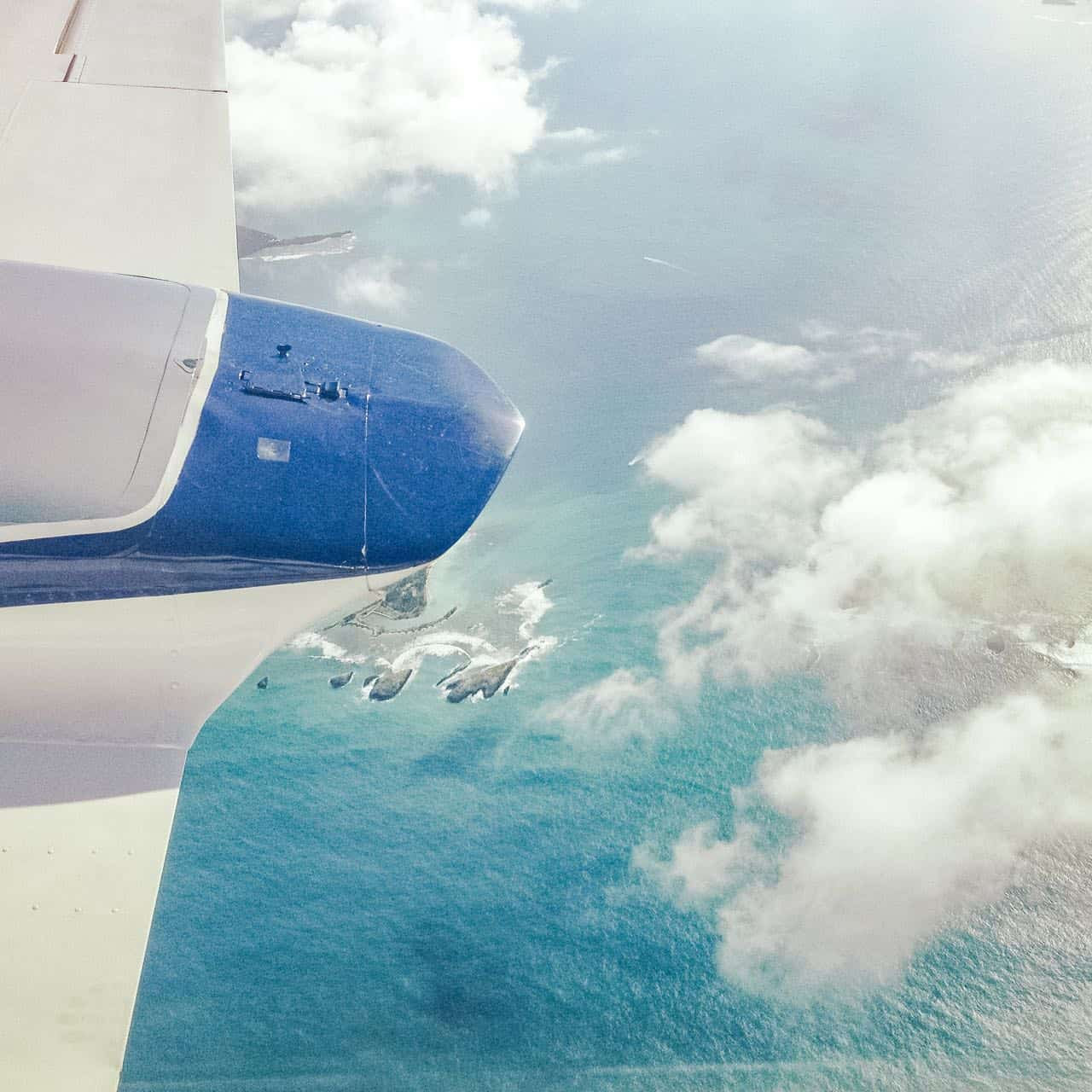 airplane etiquette: view out of the airplane window