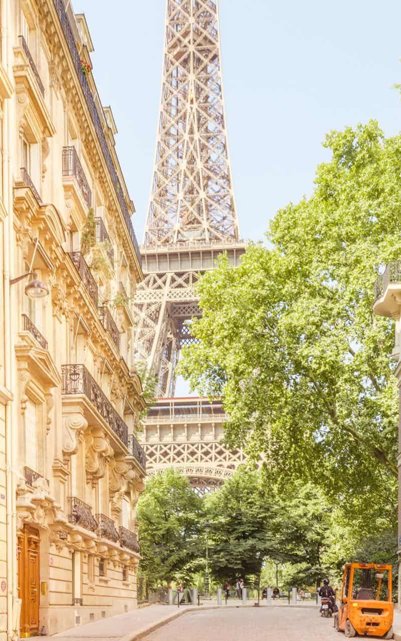 Eiffel Tower from Rue L'Universite