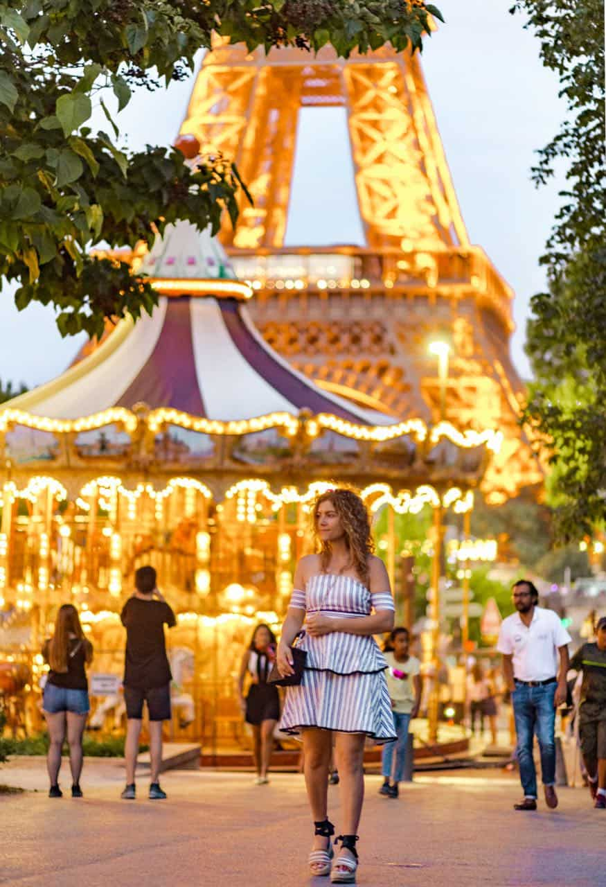 best view of Eiffel Tower with carousel at night