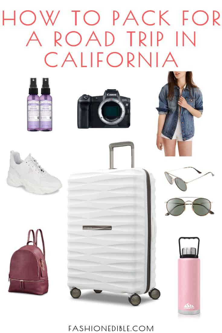 what to pack for a california road trip | california road trip essentials | summer essentials for california road trip | packing list for california road trip in the summer