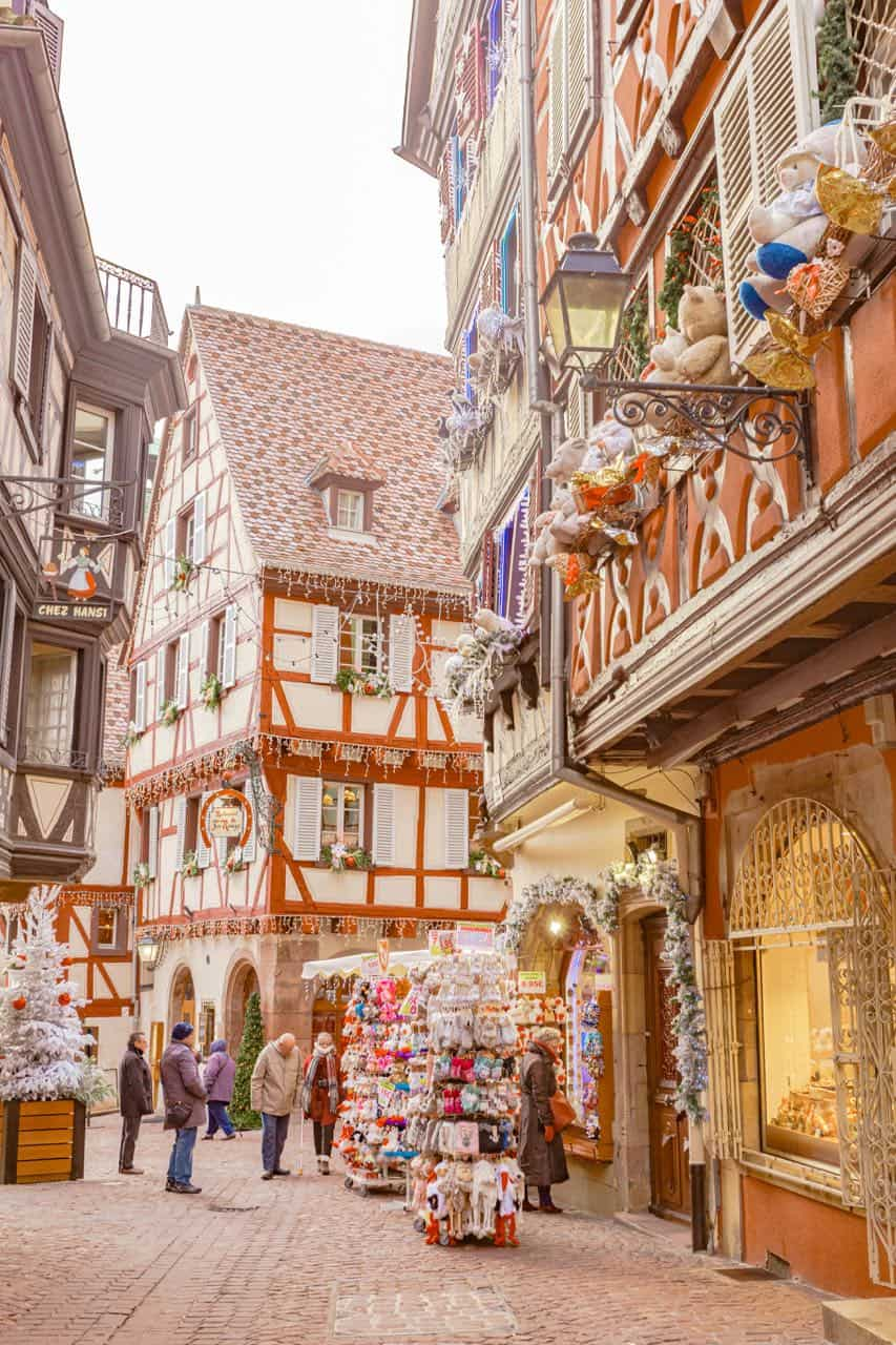 Christmas decor in Colmar