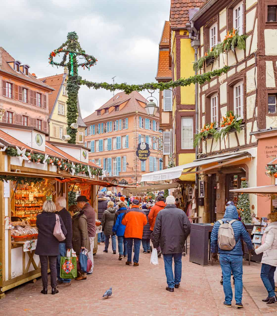 vendors at European Christmas market
