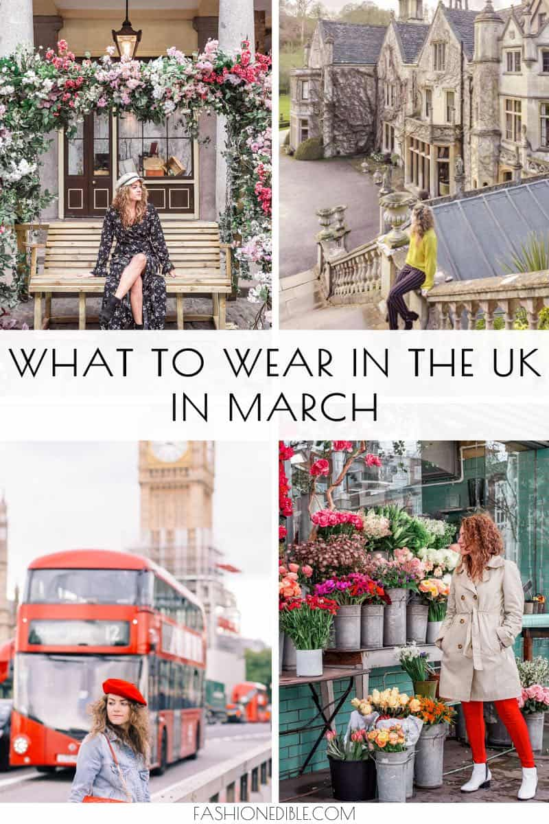 what to pack for the UK in march | travel outfits for the UK | what to wear in the UK
