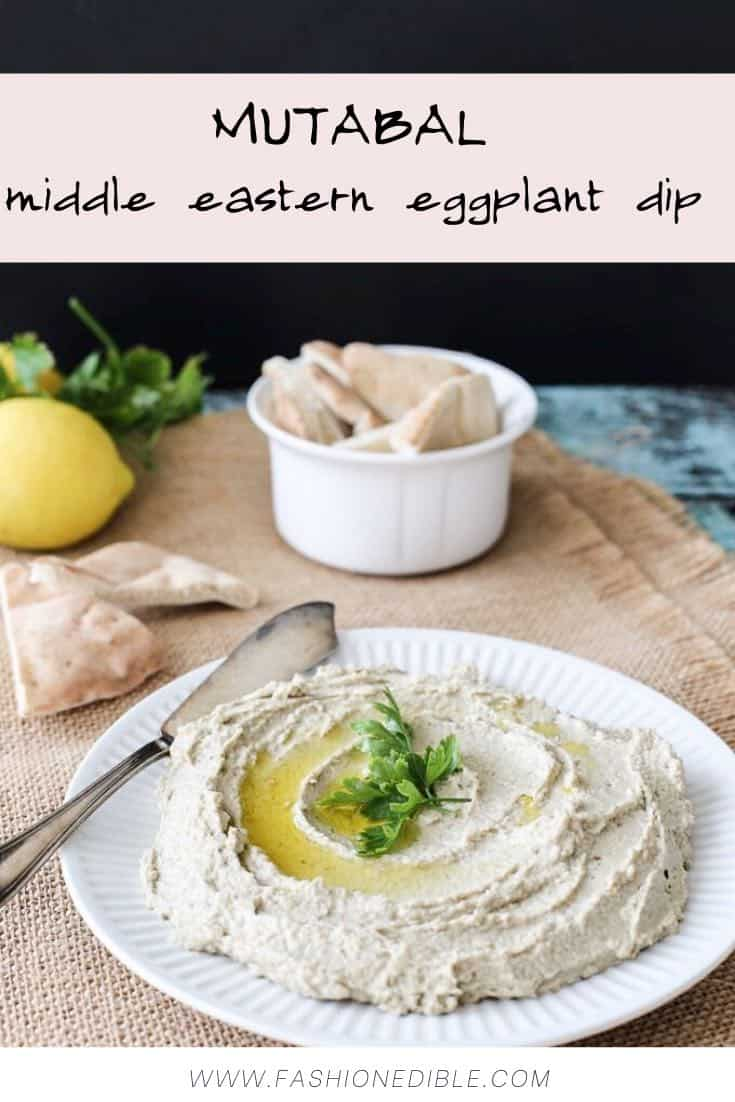 Mutabal recipe | middle eastern eggplant dip | Syrian eggplant dip with tahini and yogurt | middle eastern recipes